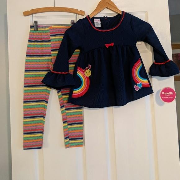 e3fa83f7f852 Nannette Matching Sets   Kids Rainbow Outfit Nwt   Poshmark